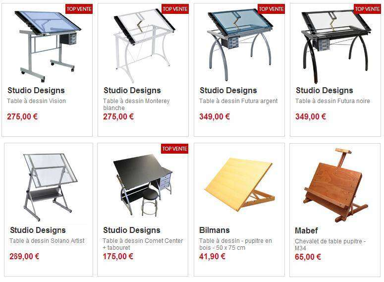 Tables dessin RP